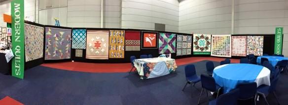Brisbane MQG stand - 2015 Stitches and Craft Fair